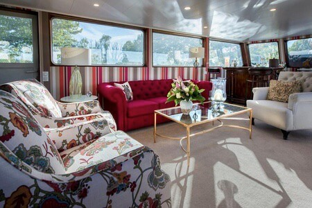Luxury interieur on your barge trip